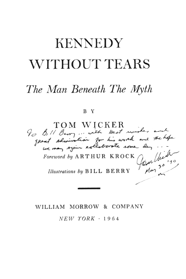 Kennedy Without Tears - Title Page