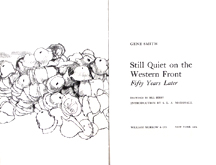 Still Quiet on the Western Front - Title Page