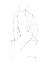 Gesture - Seated Nude Male with Twist