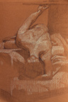 Reclining Female Nude Sanguine Paper