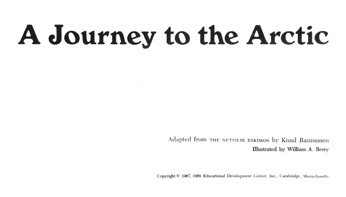 A Journey to the Arctic - Titlepage