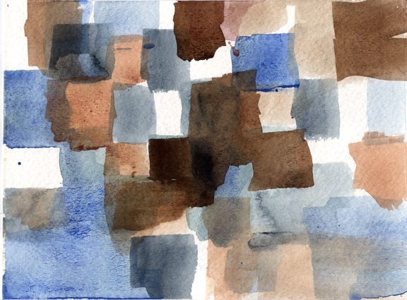 Watercolor Grid Eight