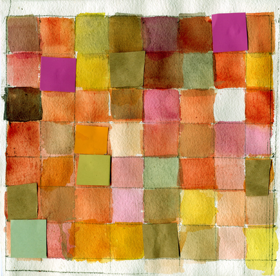 Watercolor Grid Ten