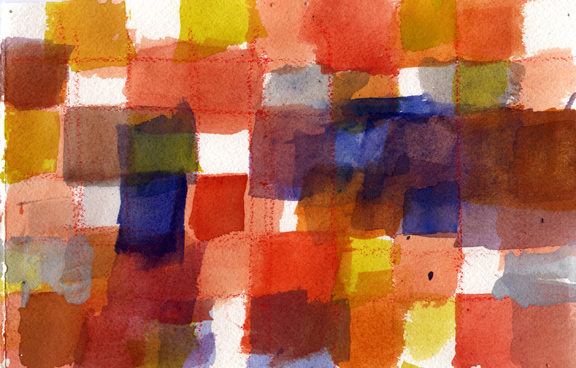 Watercolor Grid One