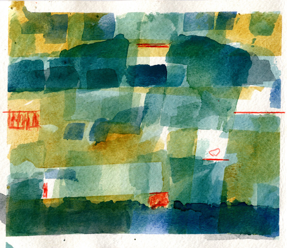 Watercolor Grid Four