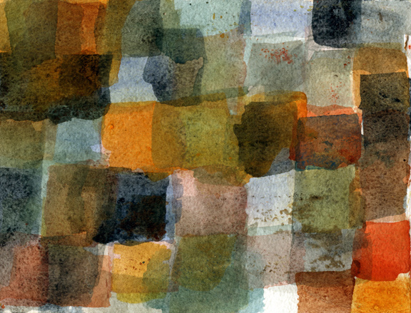 Watercolor Grid Seven
