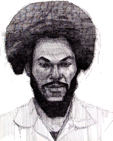 Man With Afro - Frontal View