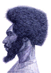 Man With Afro - Profile View
